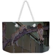 Leopard Tree Cat Preying Weekender Tote Bag