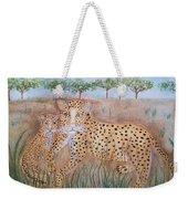 Leopard With Cub Weekender Tote Bag