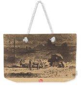 Les Anes De La Butte-aux-cailles (donkeys At La Butte-aux-cailles) Weekender Tote Bag
