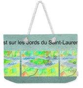 C'est Sur Les Bords Du Saint-laurent Mug Shot Weekender Tote Bag