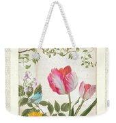 Les Magnifiques Fleurs I - Magnificent Garden Flowers Parrot Tulips N Indigo Bunting Songbird Weekender Tote Bag
