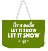 Let It Snow With Snowflakes Weekender Tote Bag