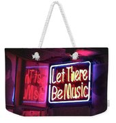 Let There Be Music Weekender Tote Bag