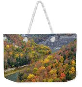 Letchworth Falls Sp Fall Colored Gorge Weekender Tote Bag