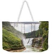 Letchworth Upper Falls Weekender Tote Bag by Michael Chatt