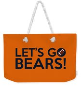Let's Go Bears Weekender Tote Bag