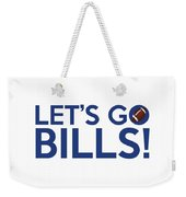Let's Go Bills Weekender Tote Bag