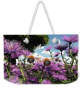 Two Bumblebees Discover The World Weekender Tote Bag
