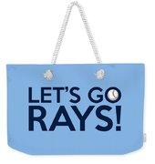 Let's Go Rays Weekender Tote Bag