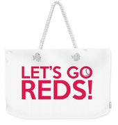 Let's Go Reds Weekender Tote Bag