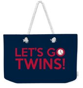 Let's Go Twins Weekender Tote Bag