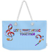 Let's Make Music - Blue Weekender Tote Bag