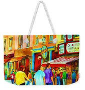 Lets Meet For Lunch Weekender Tote Bag