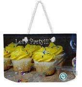 Let's Party Cupcakes Weekender Tote Bag