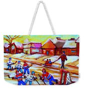 Lets Play Hockey Weekender Tote Bag
