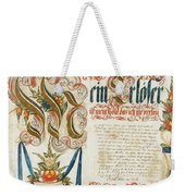 Letter With Signature Weekender Tote Bag
