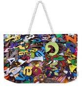 Letters And Numbers Weekender Tote Bag