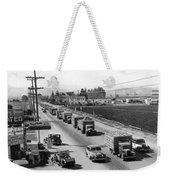 Lettuce Truck Armed Escorts Weekender Tote Bag