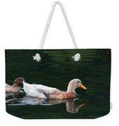 Leucistic Mallard Weekender Tote Bag