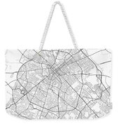 Lexington Kentucky Usa Light Map Weekender Tote Bag
