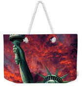 Liberty On Fire Weekender Tote Bag