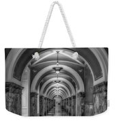 Library Of Congress Building Hallway Bw Weekender Tote Bag