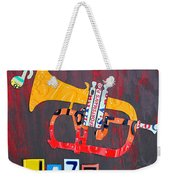 License Plate Art Jazz Series Number One Trumpet Weekender Tote Bag