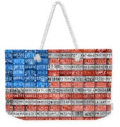 License Plate Flag Of The United States Weekender Tote Bag by Design Turnpike