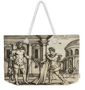 Lichas Bringing The Garment Of Nessus To Hercules Weekender Tote Bag