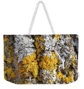 Lichens On Tree Bark Weekender Tote Bag