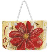Life Is The Flower Weekender Tote Bag by Debbie DeWitt