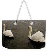 Life Of Swans. Weekender Tote Bag