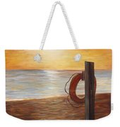 Life Ring At Sunset Weekender Tote Bag