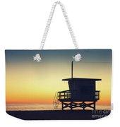 Lifeguard Tower At Sunset Weekender Tote Bag