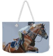 Horse Jumper Weekender Tote Bag