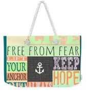 Lift Your Anchor Weekender Tote Bag
