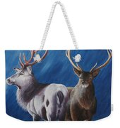 Light And Dark Stags Weekender Tote Bag