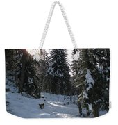 Light And Shadow On A Snowy Landscape Weekender Tote Bag
