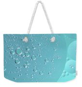 Light Blue Abstract Of Oil Droplet.  Weekender Tote Bag