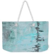 Light Blue Gray Abstract Weekender Tote Bag