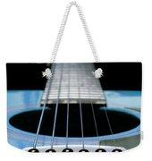 Light Blue Guitar 13 Weekender Tote Bag