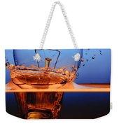 Light Bulb And Splash Water Weekender Tote Bag