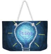 Light Bulb Design Weekender Tote Bag