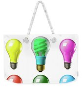Light Bulbs Of A Different Color Weekender Tote Bag