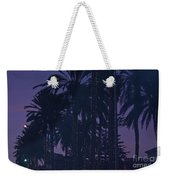 Light Decorated Palm Trees On Paseo Maritimo Weekender Tote Bag