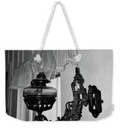 Light From The Past B W Weekender Tote Bag