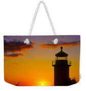 Light House At Fort Casey Washington Weekender Tote Bag