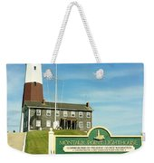 Light House At Montauk Point Weekender Tote Bag