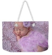 Light Lavender Feather Wings With Flower Headband Weekender Tote Bag