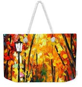 Light Of The Forest - Palette Knife Oil Painting On Canvas By Leonid Afremov Weekender Tote Bag